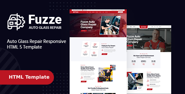 [Free Download] Fuzze – Auto Glass Repair HTML Template (Nulled) [Latest Version]