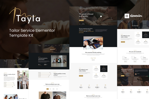 [Free Download] Tayla – Tailor Service Elementor Template Kit (Nulled) [Latest Version]