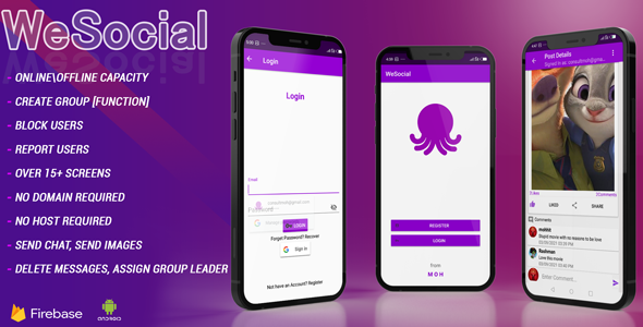 [Free Download] WESOCIAL Facebook and Twitter clone social networking app Android studio + Firebase + Chat (Nulled) [Latest Version]