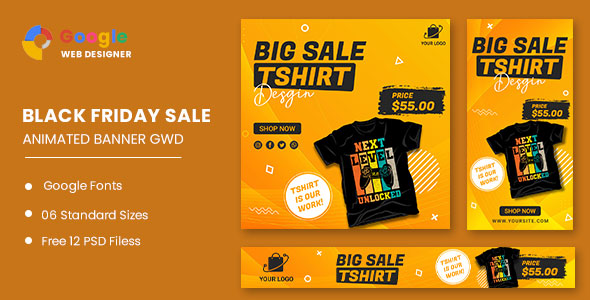 [Free Download] Big Sale Tshirt HTML5 Banner Ads GWD (Nulled) [Latest Version]