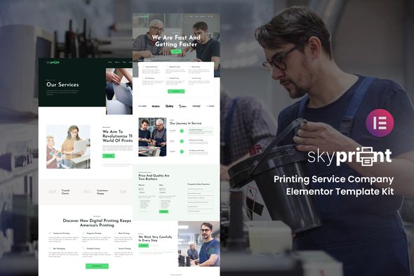 [Free Download] Skyprint – Printing Service Company Elementor Template Kit (Nulled) [Latest Version]