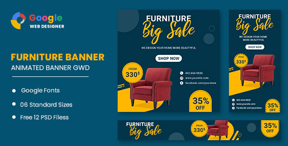 [Free Download] Furniture Google Adwords HTML5 Banner Ads GWD (Nulled) [Latest Version]