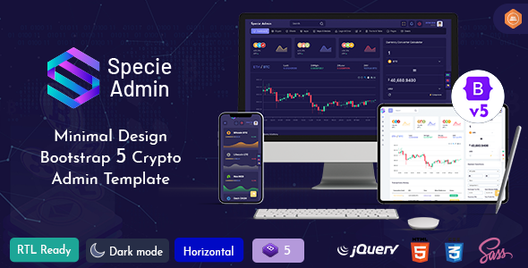 [Free Download] Specie – Cryptocurrency Admin Dashboard Template (Nulled) [Latest Version]