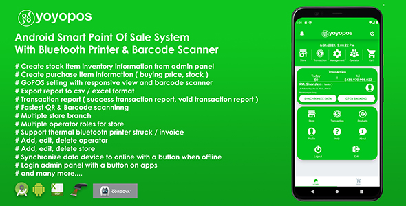 [Free Download] YoyoPOS – Point Of Sales for Android APP with Barcode Scanner and API (Nulled) [Latest Version]