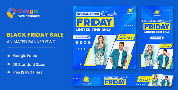 [Free Download] Black Friday Fashion Sale HTML5 Banner Ads GWD (Nulled) [Latest Version]