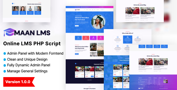 [Free Download] MAAN LMS- Online Learning Management Systems (Nulled) [Latest Version]