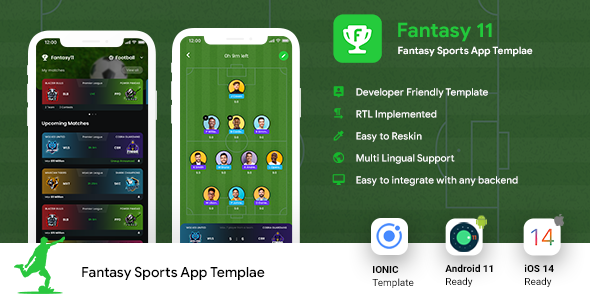 [Free Download] Fantasy League Contest Sports Android App Template+ iOS App Template | IONIC5 | Fantasy 11 (Nulled) [Latest Version]