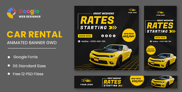 [Free Download] Rent Car HTML5 Banner Ads GWD (Nulled) [Latest Version]