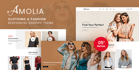 [Free Download] Amolia – Clothing & Fashion Responsive Shopify Theme (Nulled) [Latest Version]