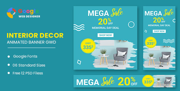 [Free Download] Interior Decor Google Adwords HTML5 Banner Ads GWD (Nulled) [Latest Version]