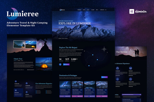 [Free Download] Lumieree –  Adventure Travel & Night Camping Elementor Template Kit (Nulled) [Latest Version]
