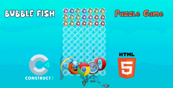[Free Download] Bubble Fish HTML5 Game (With Construct 3 All Source-code .c3p) (Nulled) [Latest Version]