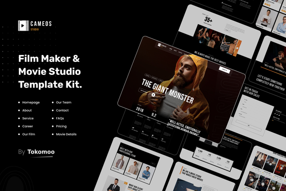 [Free Download] Cameos   Film Maker & Movie Studio Elementor Template Kit (Nulled) [Latest Version]