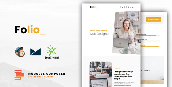 [Free Download] Folio – Personal Portfolio Responsive Email ideal for Creatives with Online Builder (Nulled) [Latest Version]