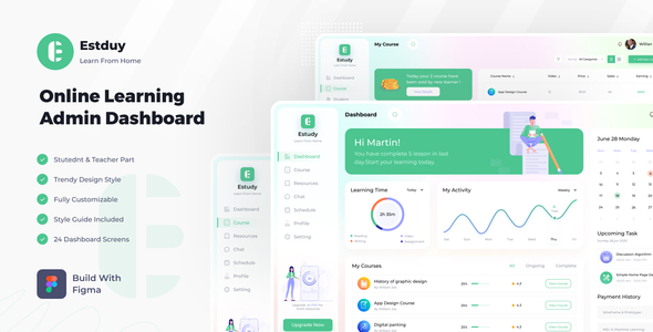 [Free Download] E-Study | Online Learning Dashboard (Nulled) [Latest Version]
