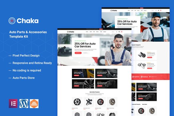 [Free Download] Chakta – Auto Parts Store & Accessories Elementor Template Kit (Nulled) [Latest Version]