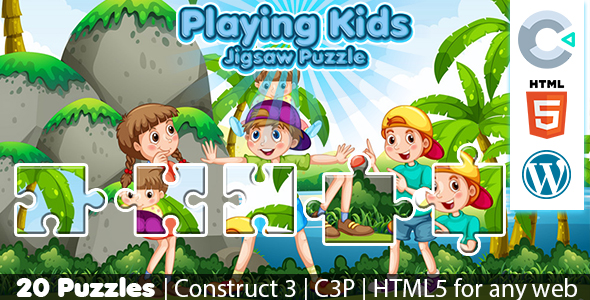 [Free Download] Playing Kids Jigsaw Puzzle Game (Construct 3 | C3P | HTML5) 20 Levels (Nulled) [Latest Version]