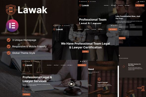 [Free Download] Lawak – Legal & Lawyer Services Elementor Template Kit (Nulled) [Latest Version]