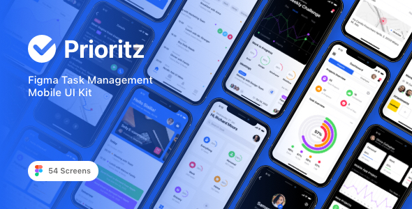 [Free Download] Prioritz – Figma Task Management Mobile UI Kit (Nulled) [Latest Version]