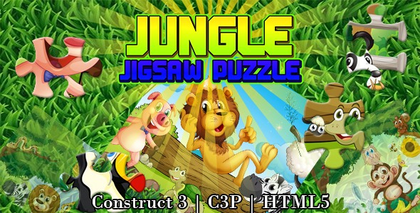 [Free Download] Jungle Jigsaw Puzzle Game (Construct 3 | C3P | HTML5) (Nulled) [Latest Version]