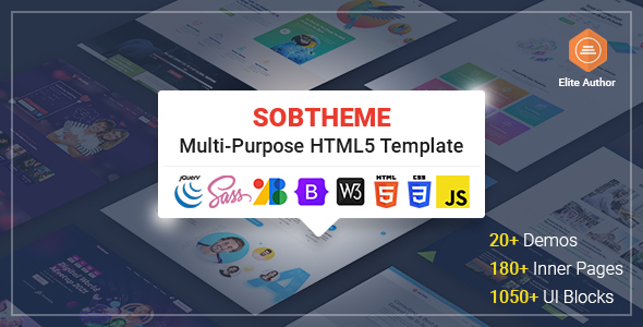 [Free Download] Sobtheme – Multipurpose HTML5 Template (Nulled) [Latest Version]