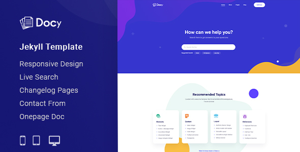 [Free Download] Docy – Documentation And Knowledge Base Jekyll Template (Nulled) [Latest Version]