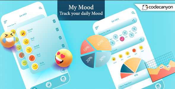 [Free Download] Android My Mood Tracker –  your daily Mood, Diary, Journal (Android 11) (Nulled) [Latest Version]