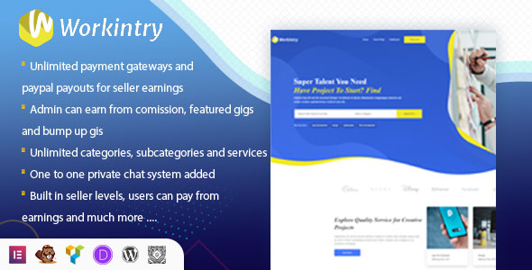[Free Download] Workintry – Freelance Marketplace and Gig Based WordPress Plugin (Nulled) [Latest Version]