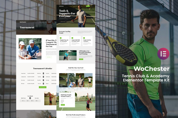 [Free Download] WoChester – Tennis Club & Academy Elementor Template Kit (Nulled) [Latest Version]