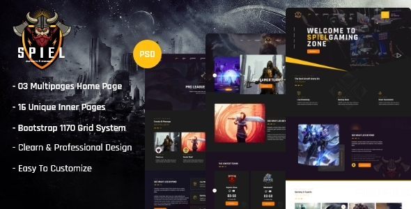 [Free Download] Spiel – Gaming and eSports XD Template (Nulled) [Latest Version]
