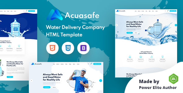 [Free Download] Acuasafe – Drinking Mineral Water Delivery HTML Template (Nulled) [Latest Version]