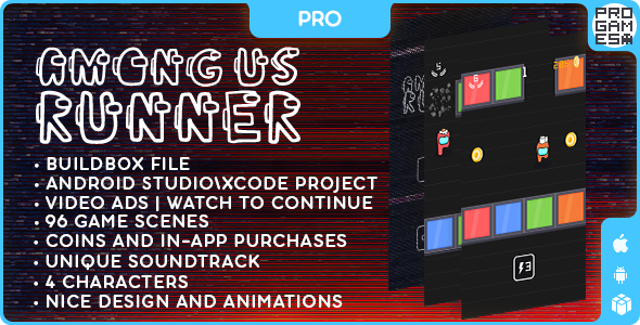 [Free Download] Among Us Runner (PRO) – BUILDBOX CLASSIC – IOS – Android – Reward video (Nulled) [Latest Version]