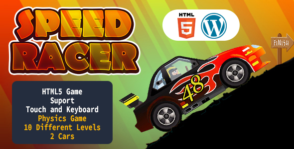 [Free Download] Speed Racer Car Game (HTML5) Racing Game (Nulled) [Latest Version]
