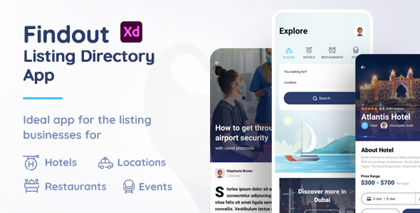 [Free Download] Findout – Listing Directory App Xd Template (Nulled) [Latest Version]