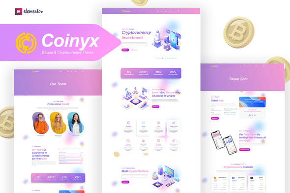 [Free Download] Coinyx – Cryptocurrency Blockchain & Bitcoin Elementor Template Kit (Nulled) [Latest Version]