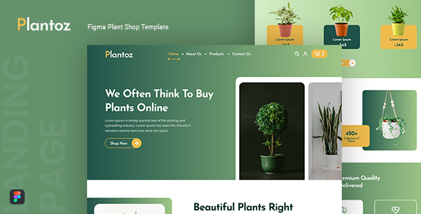 [Free Download] Plantoz — Plant Shop Figma Template (Nulled) [Latest Version]