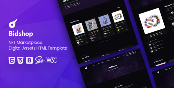 [Free Download] Bidshop – NFT Marketplace HTML Template (Nulled) [Latest Version]