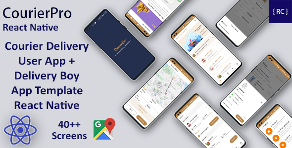 [Free Download] Courier Delivery React Native App Template | 2 Apps | User App + Delivery App | CourierPro (Nulled) [Latest Version]