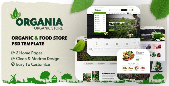 [Free Download] Organia – Organic Foods Store PSD Template (Nulled) [Latest Version]