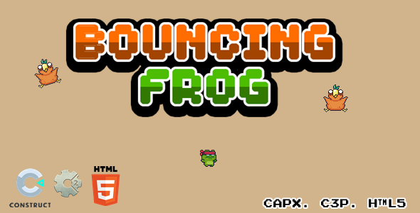[Free Download] Bouncing Frog – CAPX I C3P I HTML5 Game (Nulled) [Latest Version]