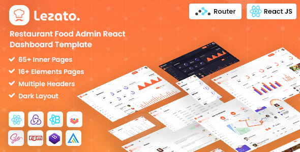 [Free Download] Lezato : React Redux Restaurant Admin Template (Nulled) [Latest Version]