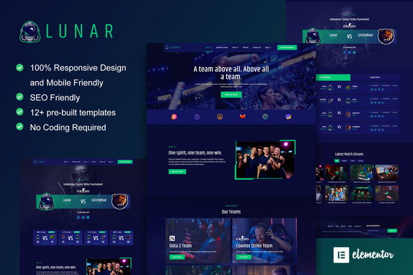 [Free Download] Lunar – Esports & Gaming Elementor Template Kit (Nulled) [Latest Version]