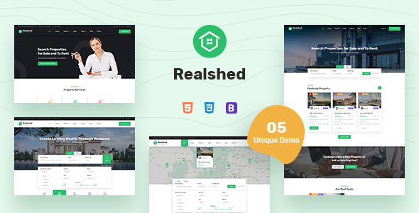 [Free Download] Realshed – Real Estate HTML Template (Nulled) [Latest Version]