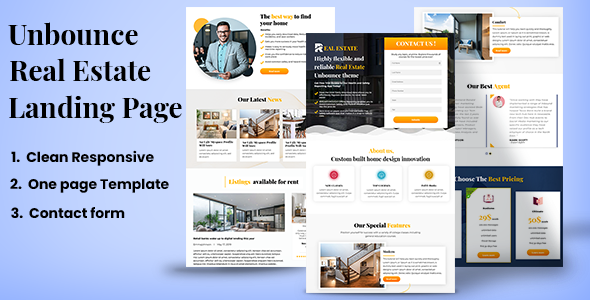 [Free Download] Real Estate– Unbounce Landing page (Nulled) [Latest Version]