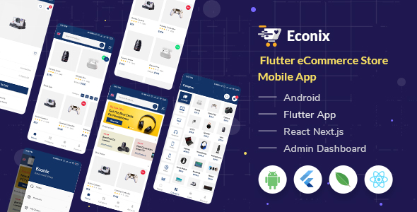 [Free Download] Econix – Flutter eCommerce Store Mobile App + React Node Admin Dashboard (Nulled) [Latest Version]