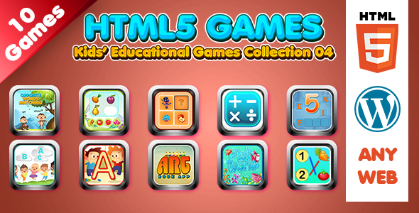 [Free Download] Kids Educational Games Collection 04 (HTML5) 10 Games (Nulled) [Latest Version]