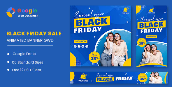 [Free Download] Black Friday Sale Fashion HTML5 Banner Ads GWD (Nulled) [Latest Version]