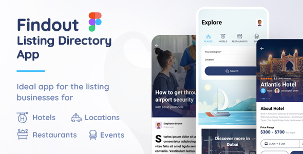 [Free Download] Findout – Listing Directory App Figma Template (Nulled) [Latest Version]