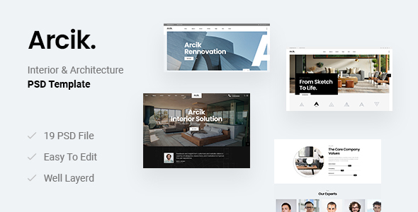 [Free Download] Arcik – Architecture & Interior PSD Template (Nulled) [Latest Version]