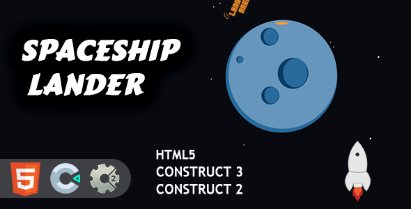 [Free Download] Spaceship Lander HTML5 Construct 2/3 Game (Nulled) [Latest Version]